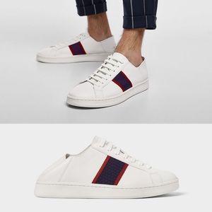 Zara Man Collapsible Mule Sneakers White 11 44
